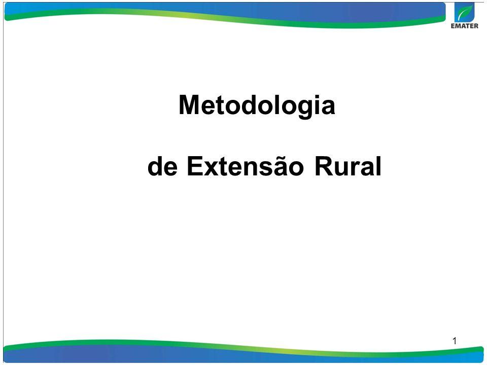 2 Extensão Rural É um processo de Educação inclusiva, e desenvolvida no ambiente heterogêneo, onde convivem agricultores familiares, pequenos, médios e grandes, que apresentam níveis diferenciados tanto em grau de instrução, como em aspectos relacionados á inovação de tecnologias e mudanças comportamentais.