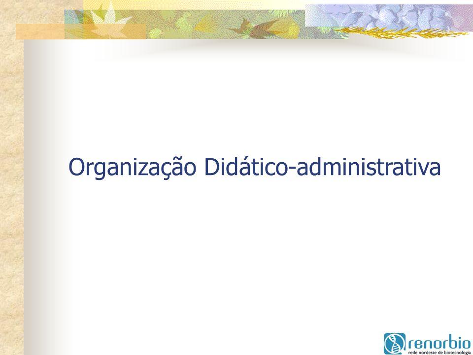 Organização Didático-administrativa