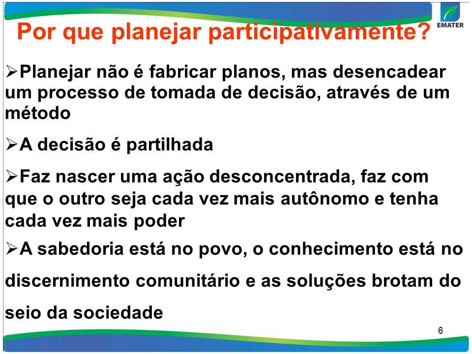 6 Por que planejar participativamente.