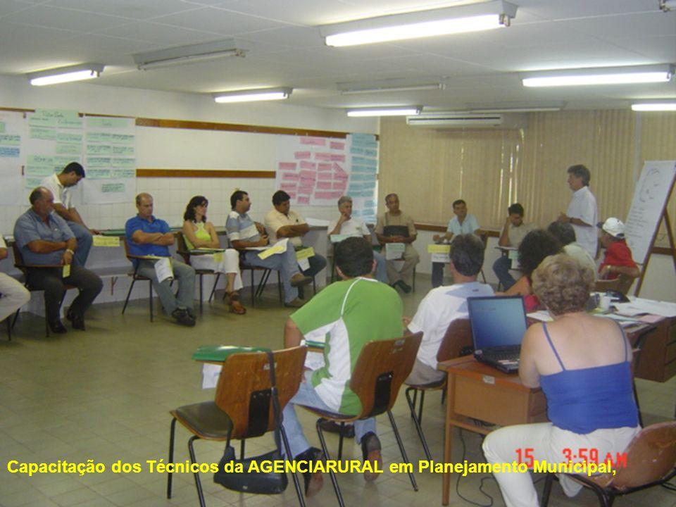 9 Capacitação dos Técnicos da AGENCIARURAL em Planejamento Municipal,