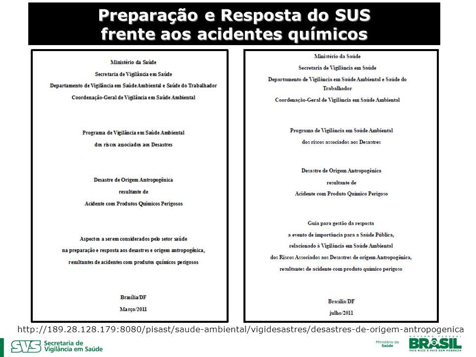 Preparação e Resposta do SUS frente aos acidentes químicos http://189.28.128.179:8080/pisast/saude-ambiental/vigidesastres/desastres-de-origem-antropogenica