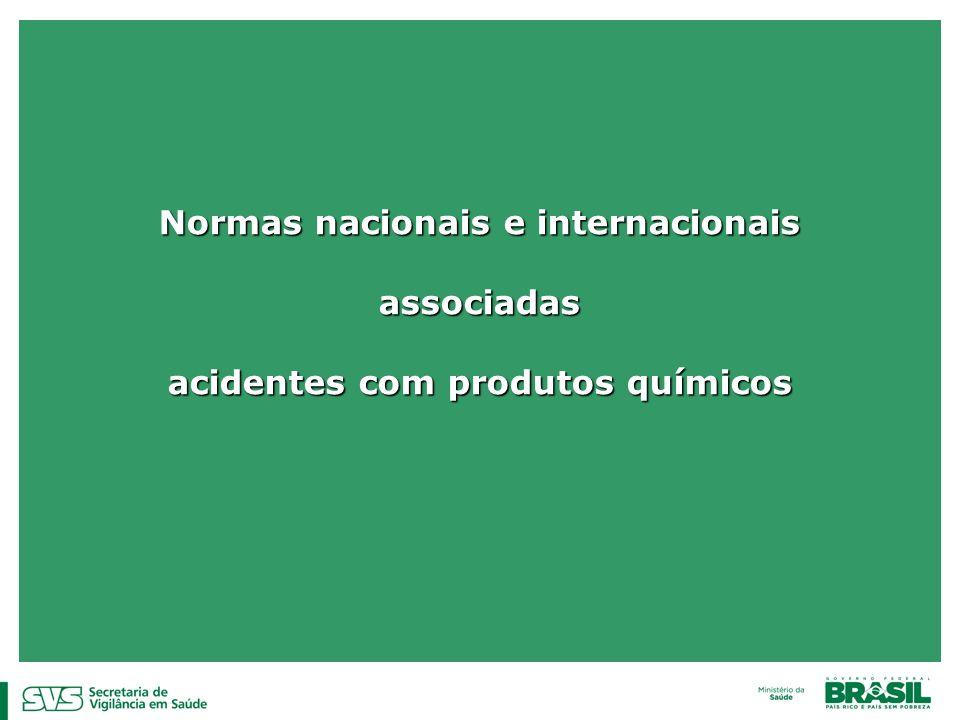 Normas nacionais e internacionais associadas acidentes com produtos químicos
