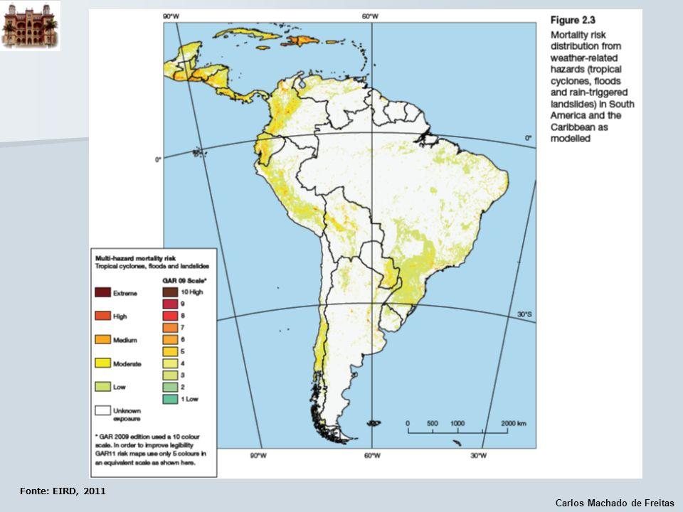 Carlos Machado de Freitas Fonte: EIRD, 2011