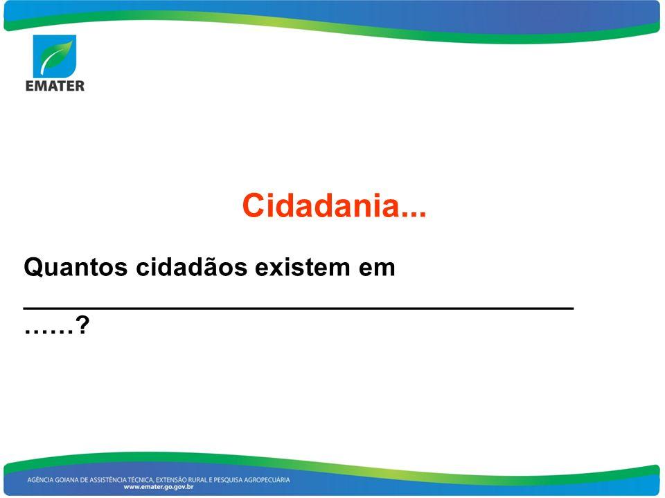 Cidadania... Quantos cidadãos existem em ______________________________________ ……?