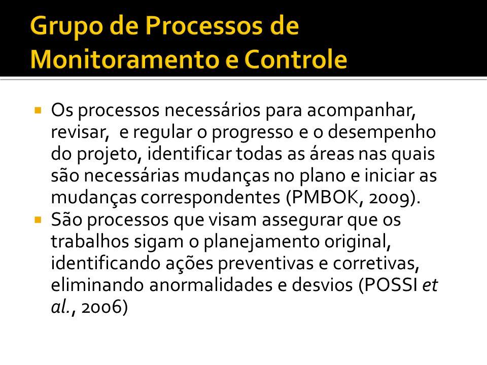 São processos usados para t tt terminar o trabalho definido no plano de gerenciamento do projeto a fim de cumprir os requisitos do projeto.