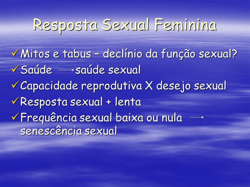Mitos e tabus – declínio da função sexual? Mitos e tabus – declínio da função sexual? Saúde saúde sexual Saúde saúde sexual Capacidade reprodutiva X d