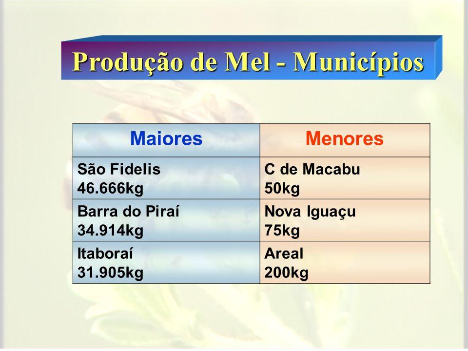 2006 Número Total de Colmeias 25.391 Número médio 19,7 ± 12,4 colmeias/apicultor