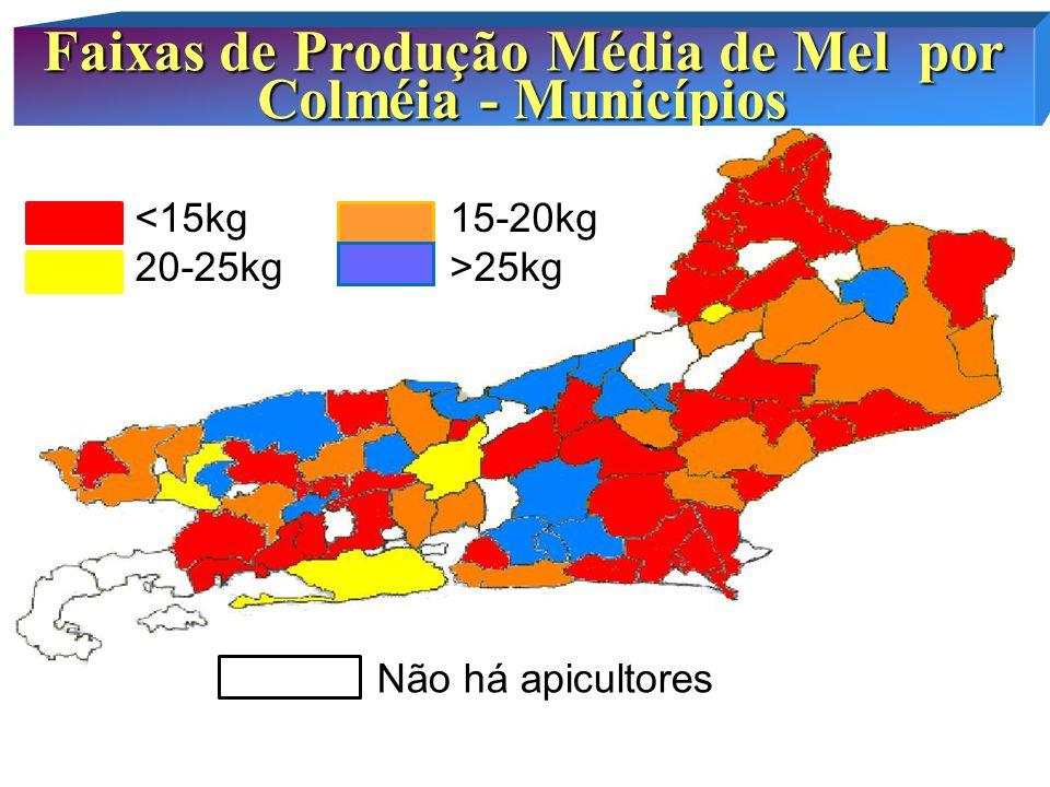 Taxa de PERDAS foram mais ALTAS nas Mesorregiões Metropolitana e Noroeste Perdas na Apicultura últimos cinco anos PERDAS 60%