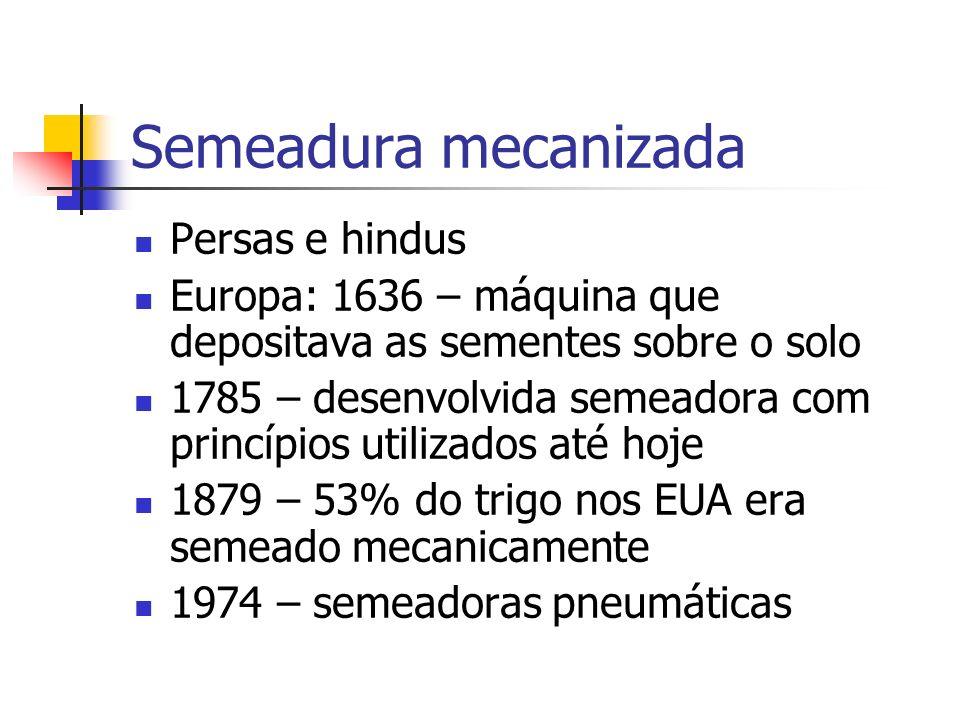 Semeadora Semeadora-adubadora: dosa e distribui sementes e fertilizantes.
