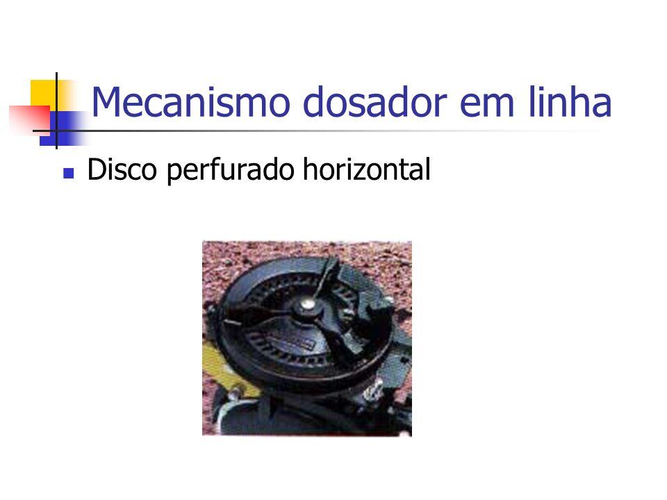 Disco perfurado horizontal Mecanismo dosador em linha