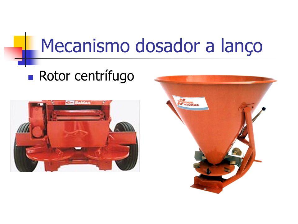 Rotor centrífugo Mecanismo dosador a lanço