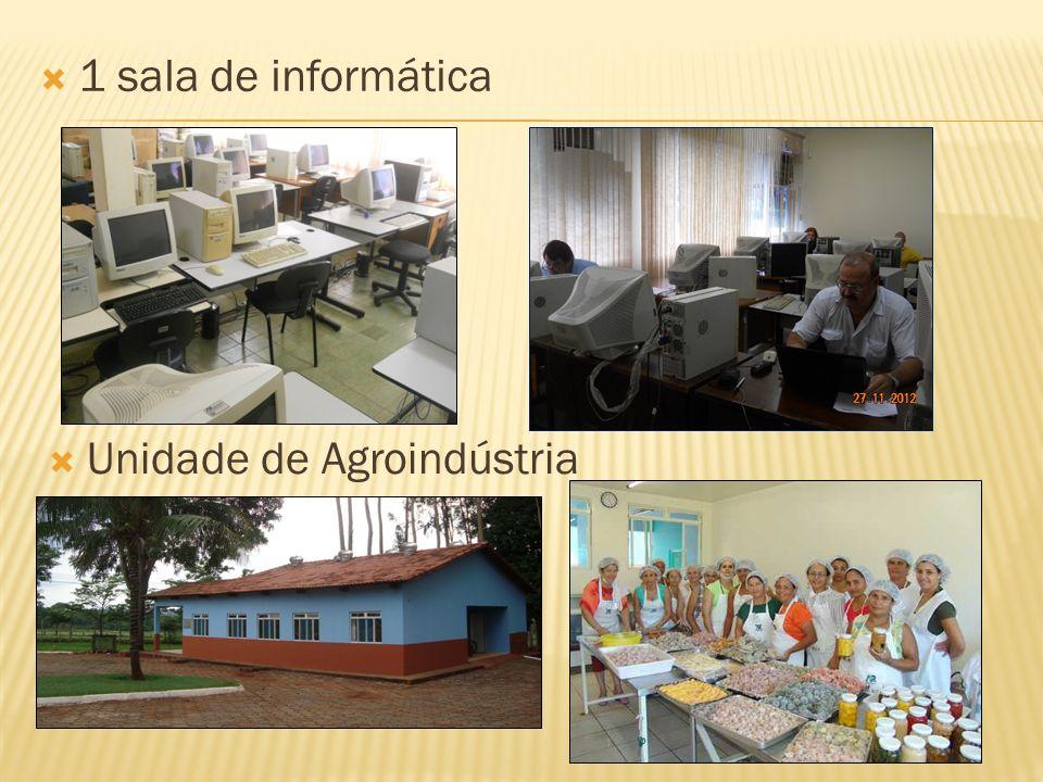 1 sala de informática Unidade de Agroindústria