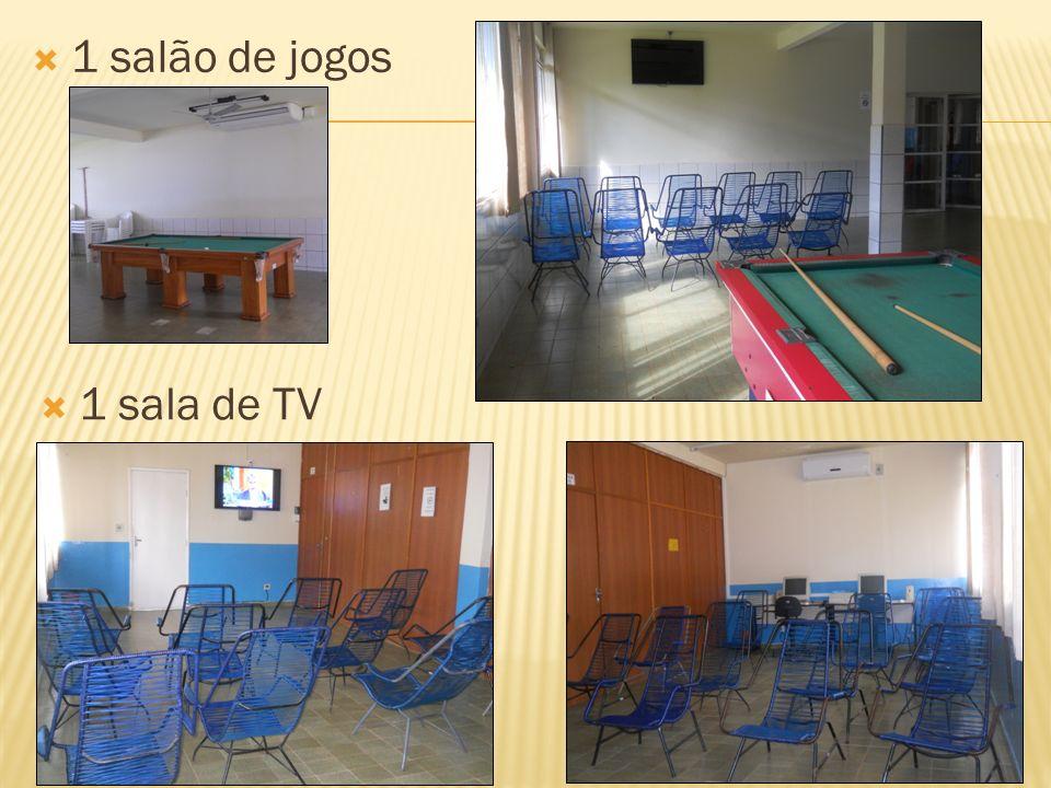 1 salão de jogos 1 sala de TV