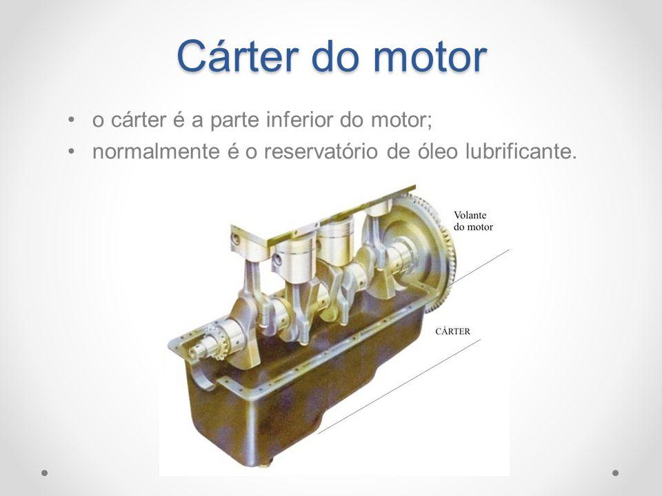 Cárter do motor o cárter é a parte inferior do motor; normalmente é o reservatório de óleo lubrificante.