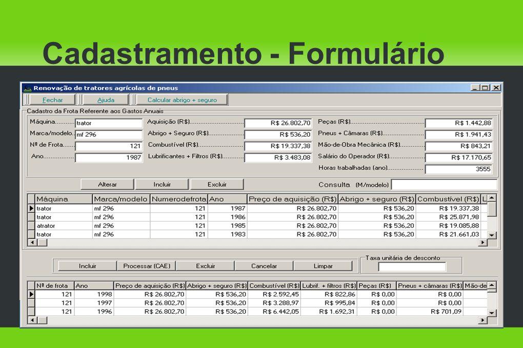 Cadastramento - Formulário