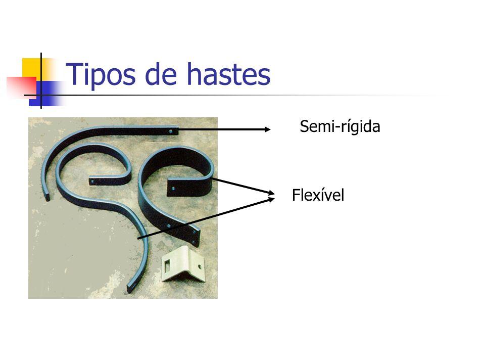 Tipos de hastes Semi-rígida Flexível
