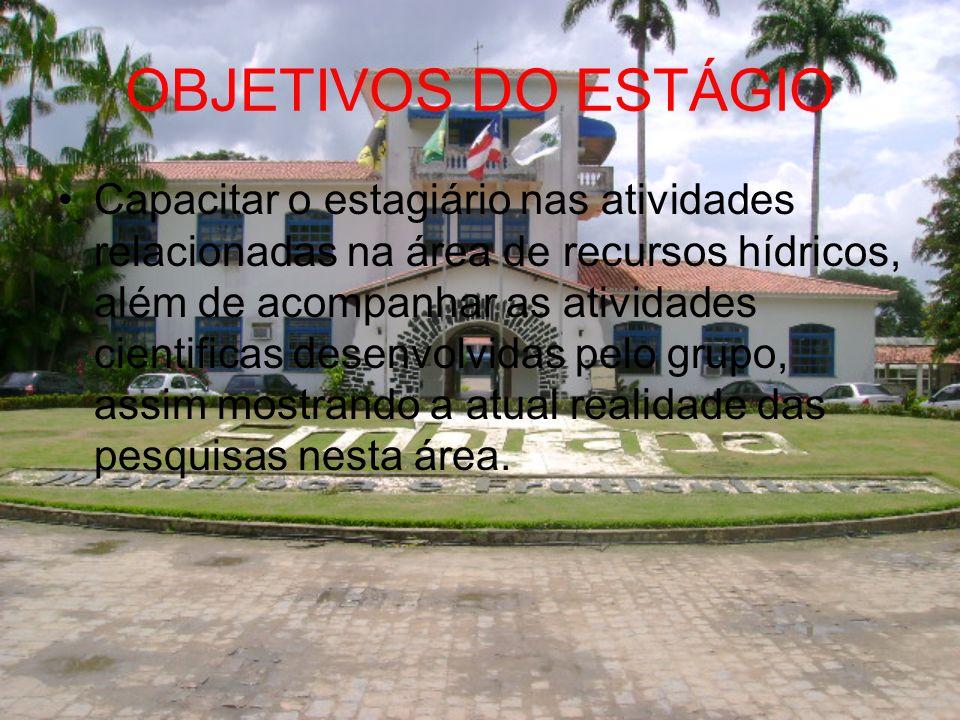 AVALIAÇÃO Manejo de Irrigação; Formação dos Estagiário; Organização.
