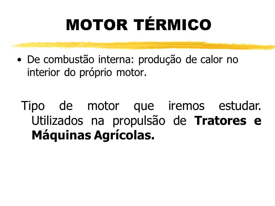 MOTOR TÉRMICO De combustão interna: produção de calor no interior do próprio motor. Tipo de motor que iremos estudar. Utilizados na propulsão de Trato
