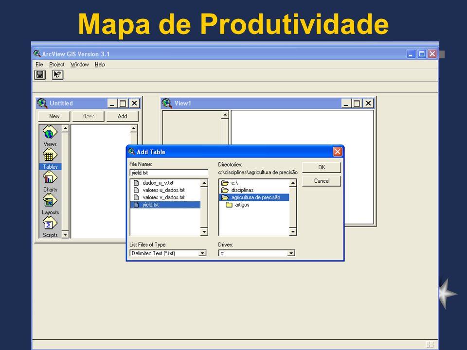 Mapa de Produtividade