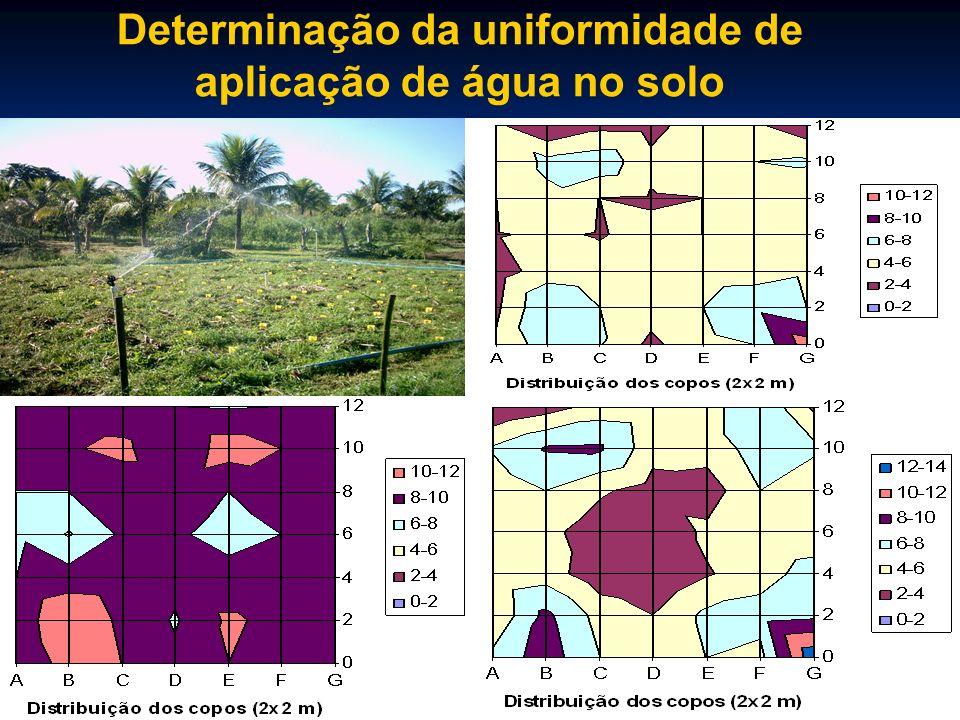 Determinação da uniformidade de aplicação de água no solo