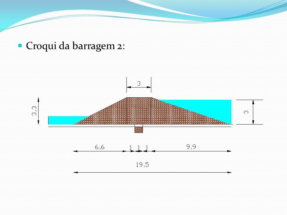 Croqui da barragem 2: