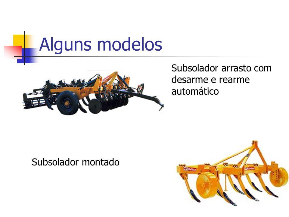 Alguns modelos Subsolador arrasto com desarme e rearme automático Subsolador montado