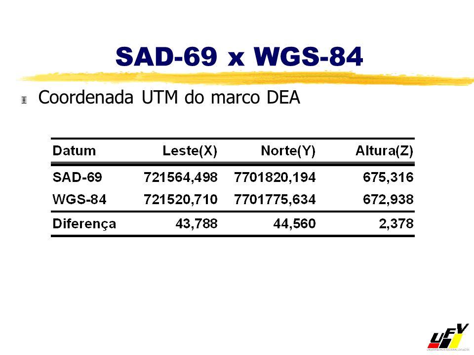 SAD-69 x WGS-84 3 Coordenada UTM do marco DEA