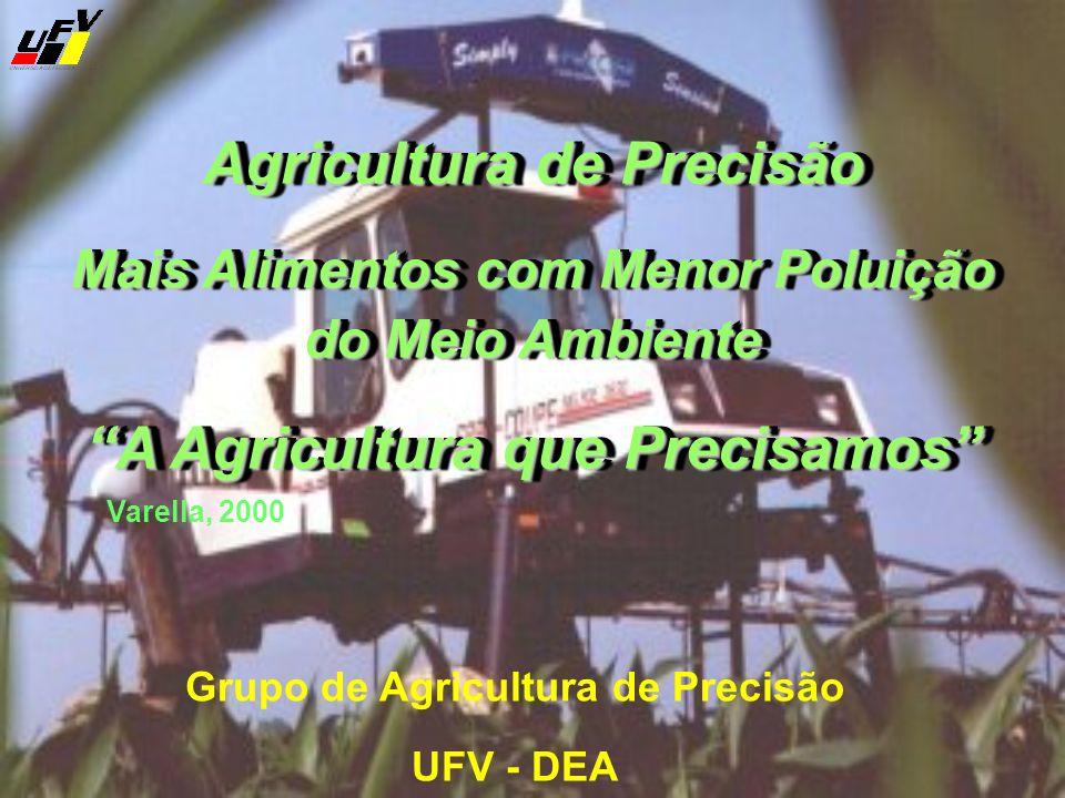 Agricultura de Precisão Mais Alimentos com Menor Poluição do Meio Ambiente A Agricultura que Precisamos Agricultura de Precisão Mais Alimentos com Men