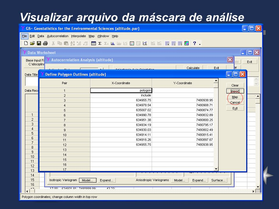 Visualizar arquivo da máscara de análise