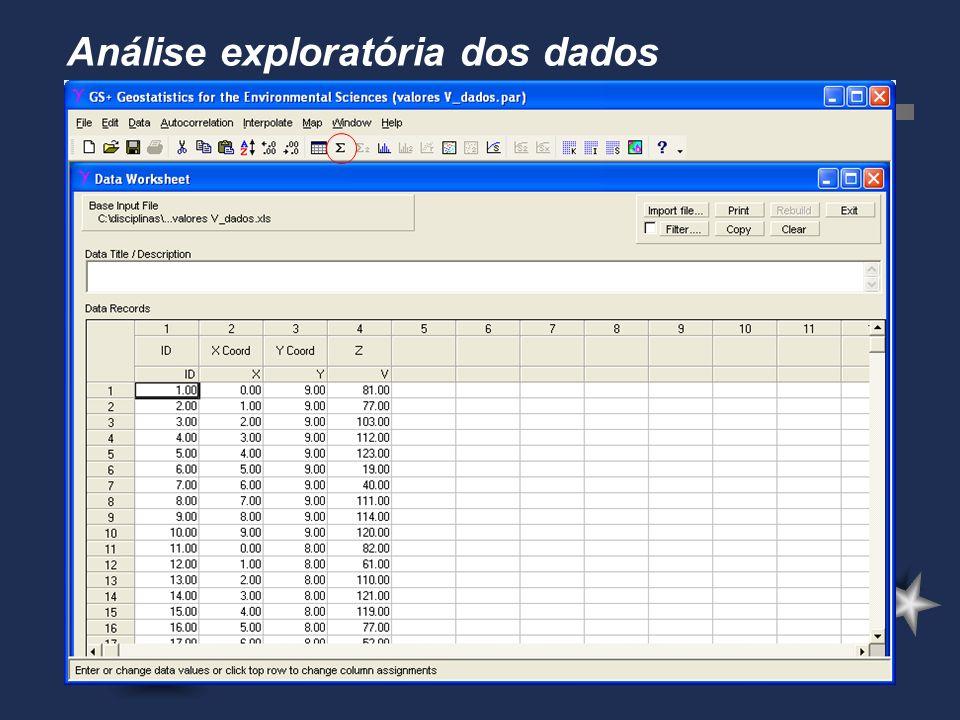 Análise exploratória dos dados