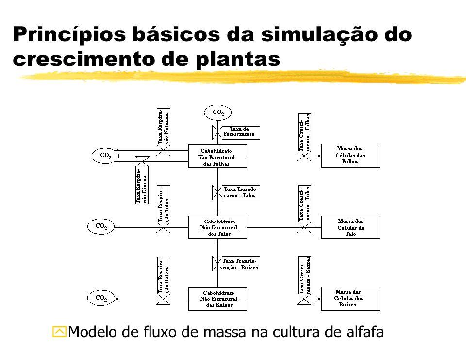 Princípios básicos da simulação do crescimento de plantas yModelo de fluxo de massa na cultura de alfafa