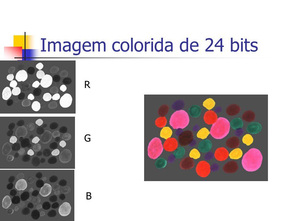 Imagem colorida de 24 bits R G B