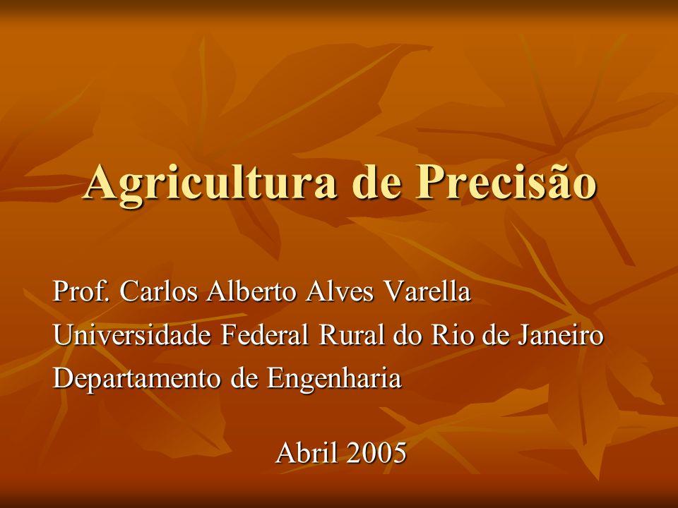 Agricultura de Precisão A agricultura de precisão é uma nova tecnologia que apresenta-se como alternativa à agricultura convencional.