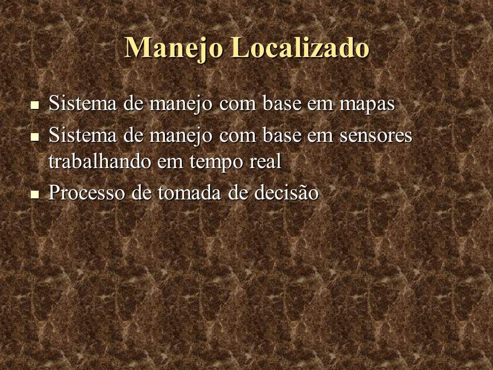 Sistema de Manejo com Base em Mapas As informações são adquiridas e posteriormente processadas.