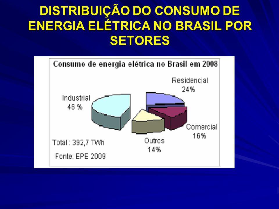 DISTRIBUIÇÃO DO CONSUMO DE ENERGIA ELÉTRICA NO BRASIL POR SETORES