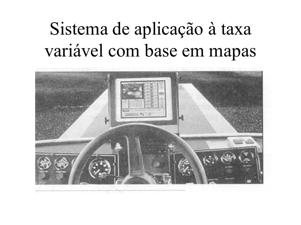 Sistema de aplicação à taxa variável com base em mapas