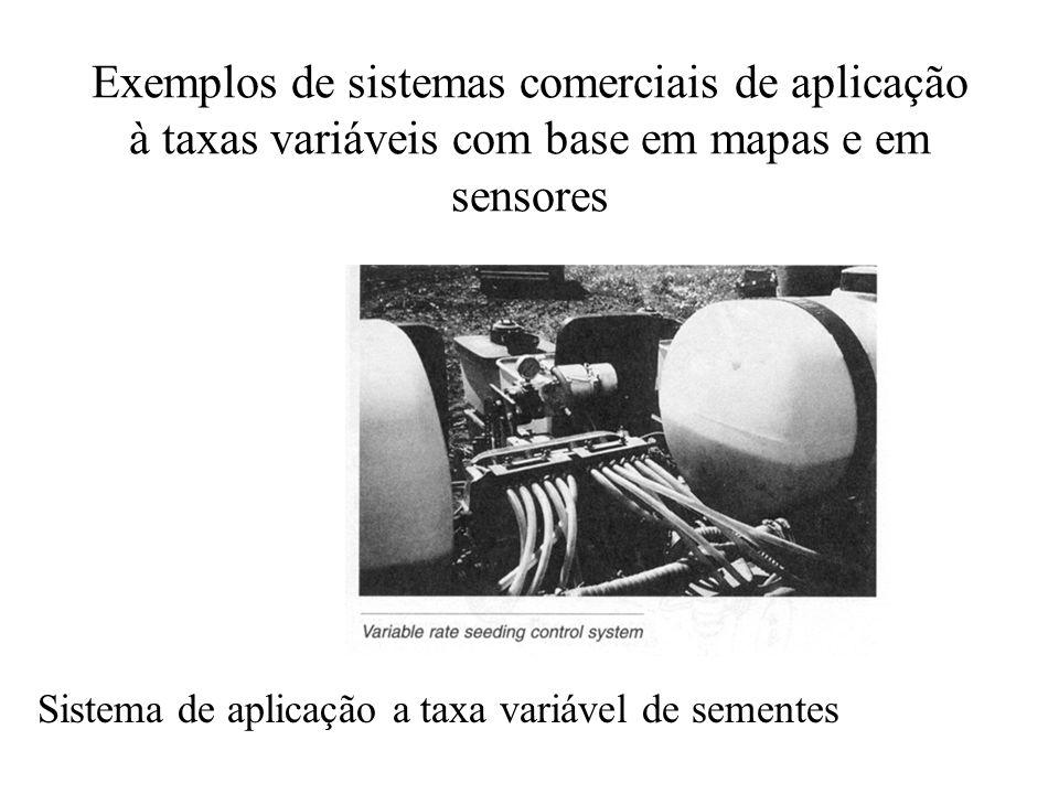 Exemplos de sistemas comerciais de aplicação à taxas variáveis com base em mapas e em sensores Sistema de aplicação a taxa variável de sementes