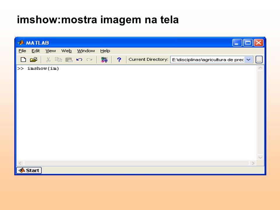 imshow:mostra imagem na tela