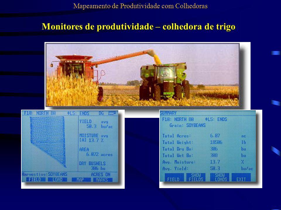 Monitores de produtividade – colhedora de trigo Mapeamento de Produtividade com Colhedoras