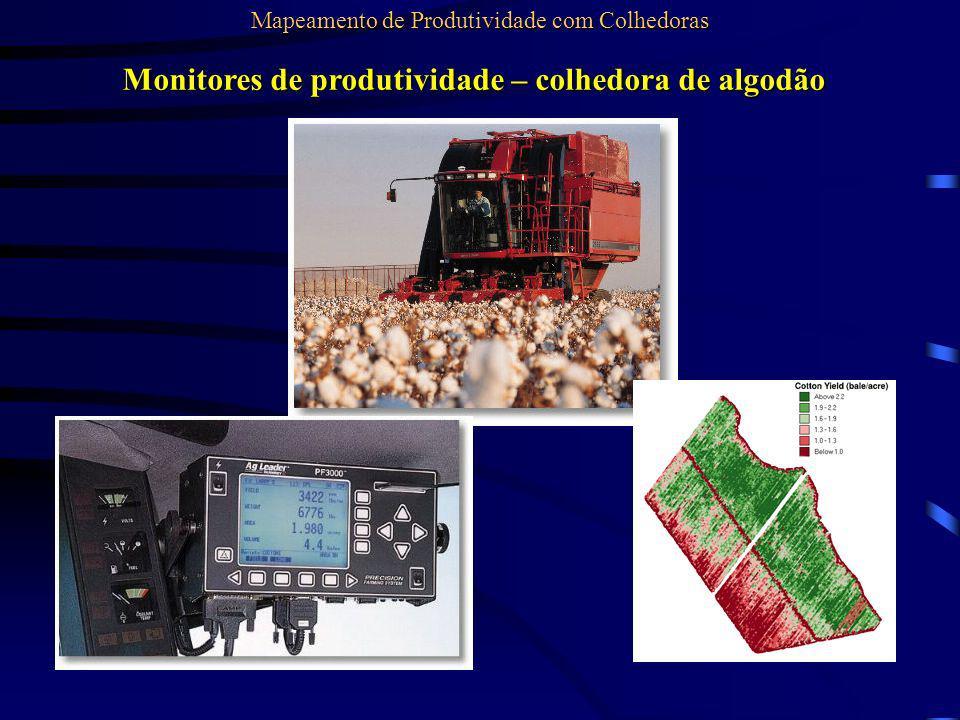 Monitores de produtividade – colhedora de algodão Mapeamento de Produtividade com Colhedoras