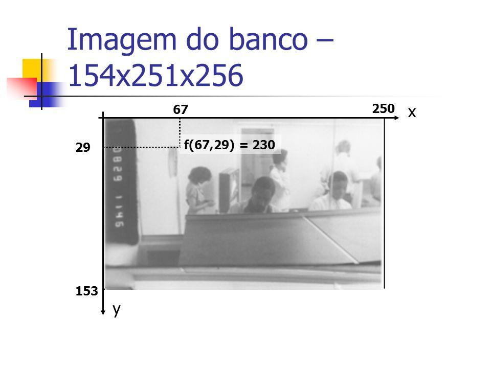 Imagem do banco – 154x251x256 y x 153 29 67 f(67,29) = 230 250