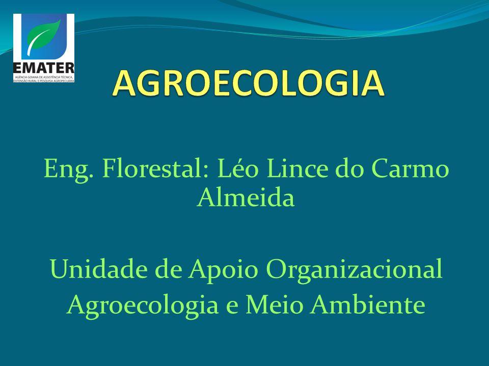 Eng. Florestal: Léo Lince do Carmo Almeida Unidade de Apoio Organizacional Agroecologia e Meio Ambiente