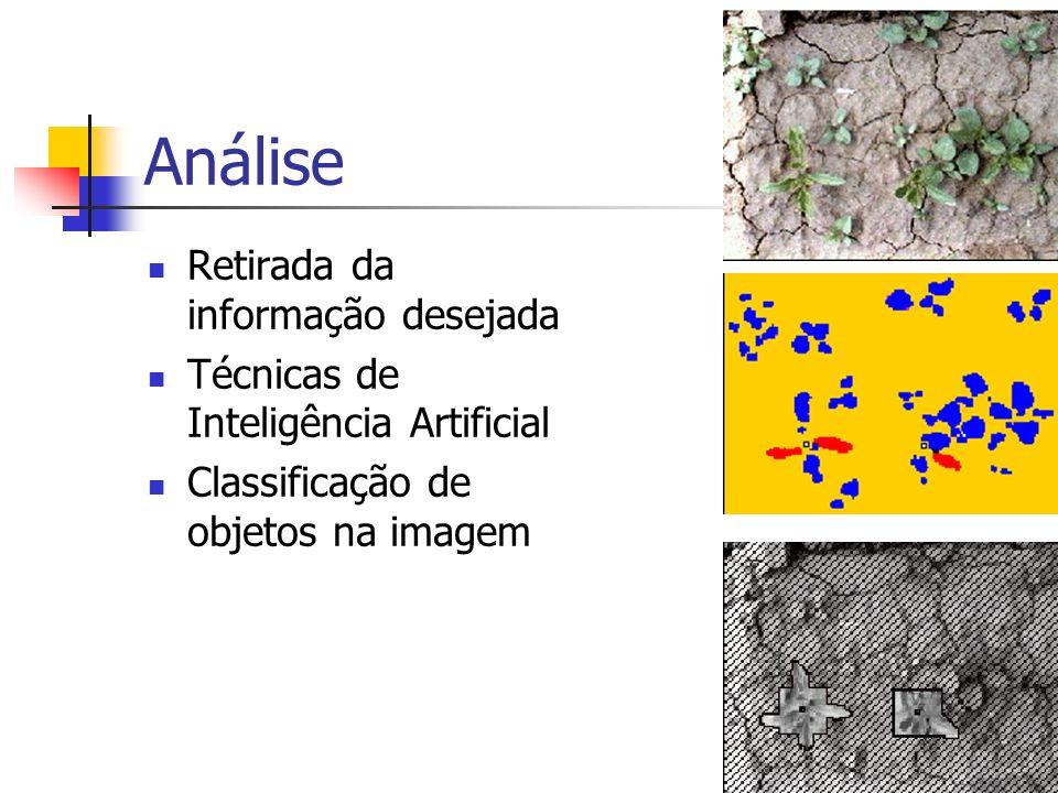Análise Retirada da informação desejada Técnicas de Inteligência Artificial Classificação de objetos na imagem