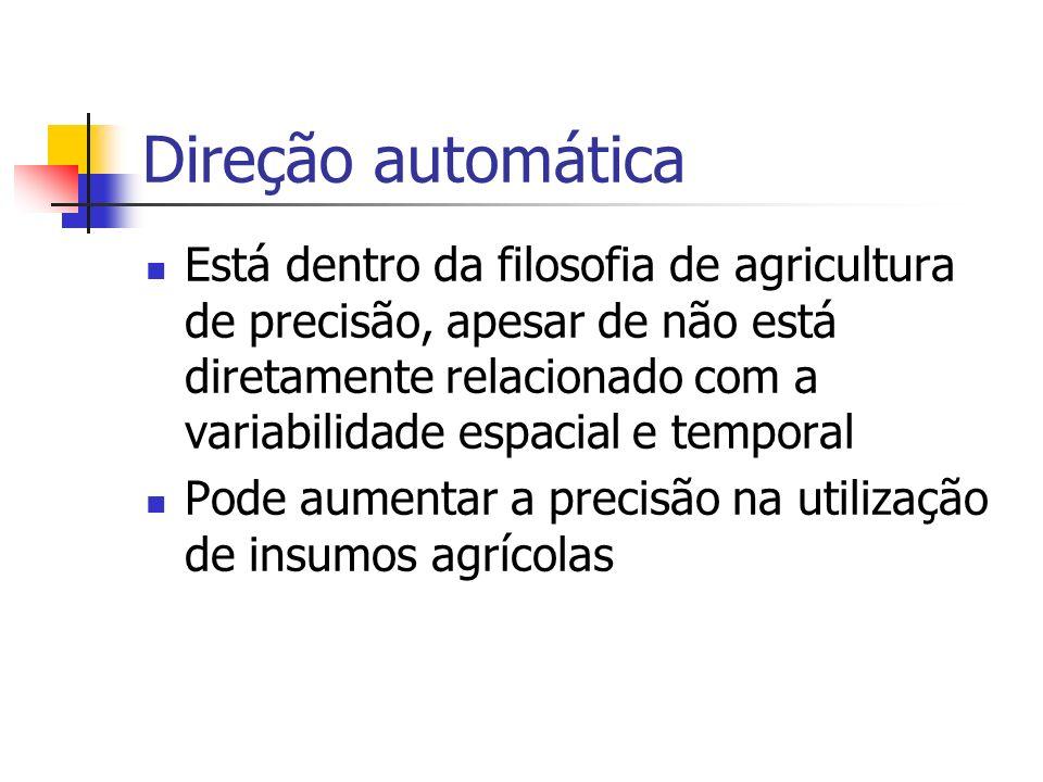 Direção automática Está dentro da filosofia de agricultura de precisão, apesar de não está diretamente relacionado com a variabilidade espacial e temp