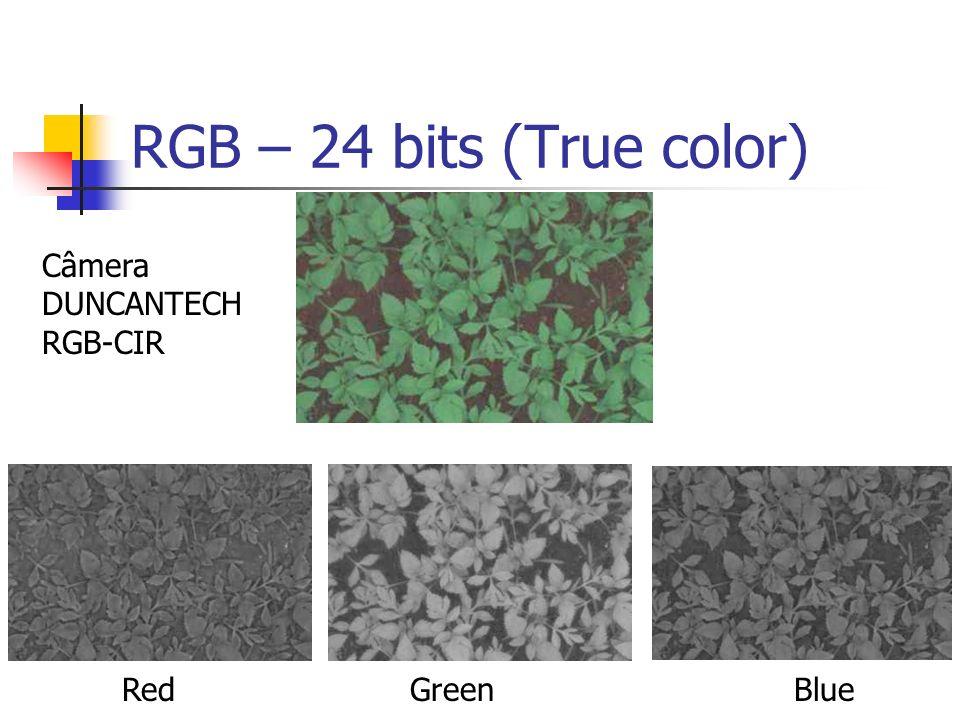 RGB – 24 bits (True color) RedGreenBlue Câmera DUNCANTECH RGB-CIR