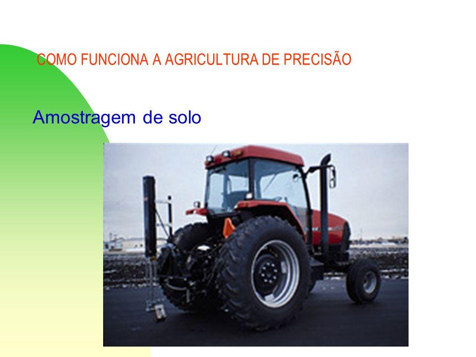 COMO FUNCIONA A AGRICULTURA DE PRECISÃO Amostragem de solo