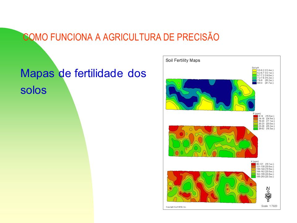 COMO FUNCIONA A AGRICULTURA DE PRECISÃO Mapas de fertilidade dos solos