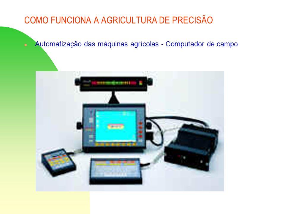 COMO FUNCIONA A AGRICULTURA DE PRECISÃO n Automatização das máquinas agrícolas - Computador de campo