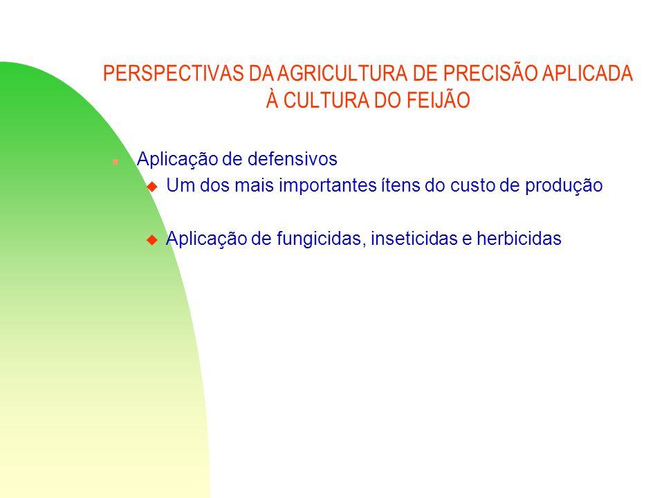 PERSPECTIVAS DA AGRICULTURA DE PRECISÃO APLICADA À CULTURA DO FEIJÃO n Aplicação de defensivos u Um dos mais importantes ítens do custo de produção u