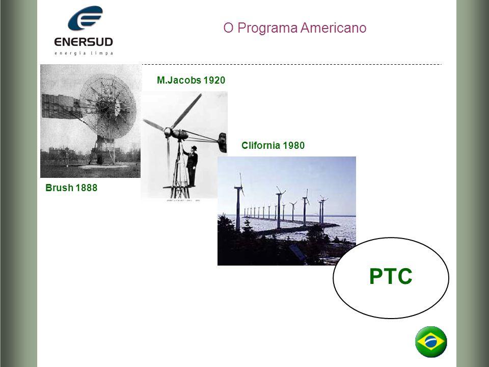 O Programa Americano Brush 1888 M.Jacobs 1920 Clifornia 1980 PTC
